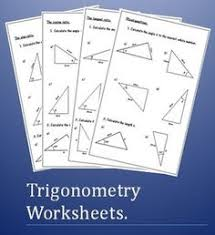 multi step trigonometry worksheets math aids com pinterest