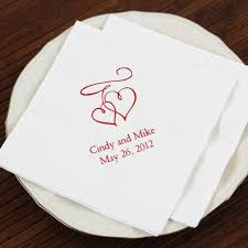 personalized wedding napkins personalized bridal napkins