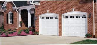 Overhead Garage Door Austin by Amarr Short Panel Garage Door In True White With Stockton Windows