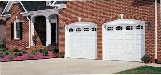 A1 Overhead Door by Amarr Short Panel Garage Door In True White With Stockton Windows