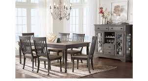 cindy crawford living room sets ocean blue grove gray 5 pc dining room rectangle traditional