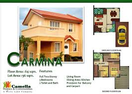 camella cerritos heights bacoor cavite house and lot jgg 104 drina floor plancarmina floor