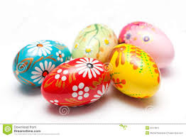 painted easter eggs for sale painted easter eggs on white patterns stock image