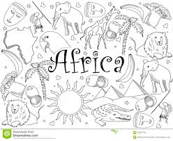 africa coloring book vector illustration stock vector image