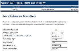 du job aid entering the data for an fha loan