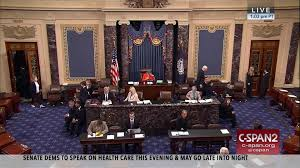 Us Senate Floor Plan Us Senate Democrats Call Hearings Health Care Bill Late Night