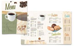 menu publisher template coffee shop menu template word publisher