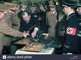 ferdinand porsche colour photograph of ferdinand porsche and adolf stock