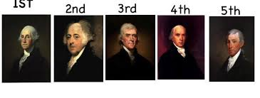first five presidents george washington he was former general and now the firs