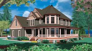 House Plans With A Wrap Around Porch by Cape Style House With Farmers Porch Youtube