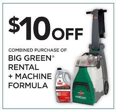 Rug Dr Rental Price Bissell Big Green Bissell 86t386t3q Big Green Carpet Cleaner