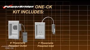 powerbridge one ck in wall power cable management connector kit