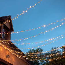 Patio String Lights White Cord by Outdoor String Lights Lights4fun Co Uk
