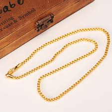 gold necklace box images 50cm 3mm brand ethiopian square 24k yellow fine gold gf thick jpg
