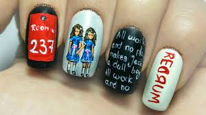 free hand nail art toturial fantasy butterflies the two girls from u201cthe shining u201d freehand nail art tutorial