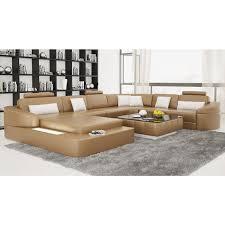 canapé d angle panoramique en cuir pleine fleur rennes pop design fr