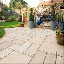Slabbed Patio Designs Golden Color Of Paving Slab Ideas 2924 Hostelgarden Net