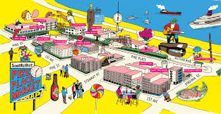 seattle map restaurants local s guide to the pike place market seattle met