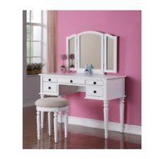 Vanity Dresser With Mirror Vanity Set Make Up Dresser Table With Stool Mirror Wood White