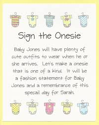 decorate sign paint a onesie baby shower activity sign
