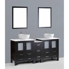 entrancing 90 paris 60 inch espresso double sink bathroom vanity
