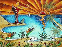 tropical paintings for interior home painting ideas