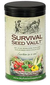 amazon com survival seed vault non gmo hardy heirloom seeds for