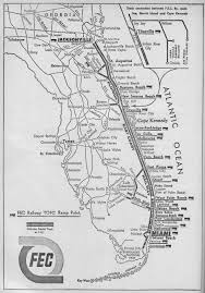 Little Havana Miami Map by The Florida East Coast Railway