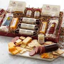 Cheese And Sausage Gift Baskets Hickory Farms Meat U0026 Sweet Gift Box Hickory Farms