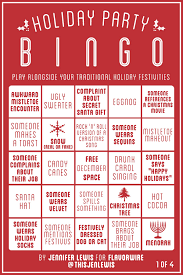 bingo cards to play with your dysfunctional family