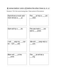 k or c spelling worksheets by k to 3 with mrs d tpt
