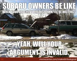 Funny Chevy Memes - subaru chevy by imakedirtlookgood meme center
