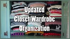 Wardrobe Organization Closet U0026 Wardrobe Organization For Small Space Youtube
