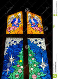 stained glass christmas tree royalty free stock photos image