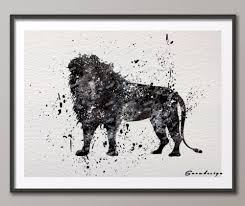 aliexpress com buy diy original watercolor lion canvas painting
