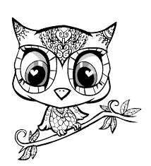 cute owl coloring pages fablesfromthefriends