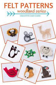 felt animal ornament patterns template business