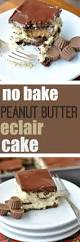 no bake peanut butter eclair cake shugary sweets