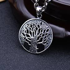 solid silver necklace jewelry images S925 solid thai silver tree pendants for necklace men jewelry 100 jpg