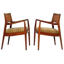 jens risom u201cplayboy u201d chairs in walnut the chairs have been