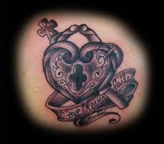 cross lock key tattoo design on waist tattooshunter com