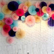 images of birthday decoration at home 25cm 1pcs flower origami paper fan wedding decoration home