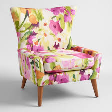 Floral Accent Chair Watercolor Floral Accent Chair World Market