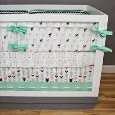 Aqua And Pink Crib Bedding by Fawn Crib Bedding Nursery Bedding Pink Mint Navy And Gold