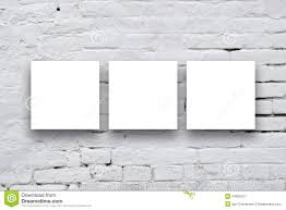 three square posters hanging art gallery wall white surripui net