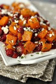 honey roasted butternut squash with cranberries and feta recipe