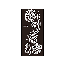 rose flower henna tattoo stencils 8 pieces shark offers