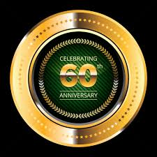 60 years anniversary 60 years anniversary medallion vector image 1399883 stockunlimited