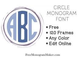 create monogram initials circle monogram font free create online with free monogram maker