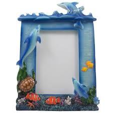 amazon com decorative swimming dolphins desktop picture frame